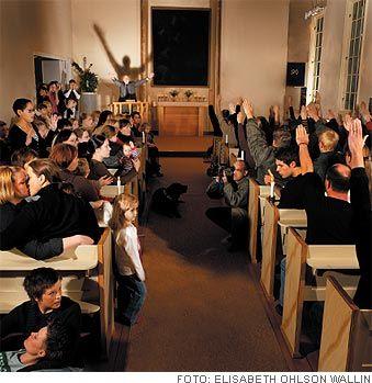 Vykort med homosexuella och nazister i kyrka