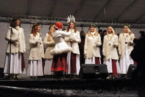 Luciakröning på Skansen