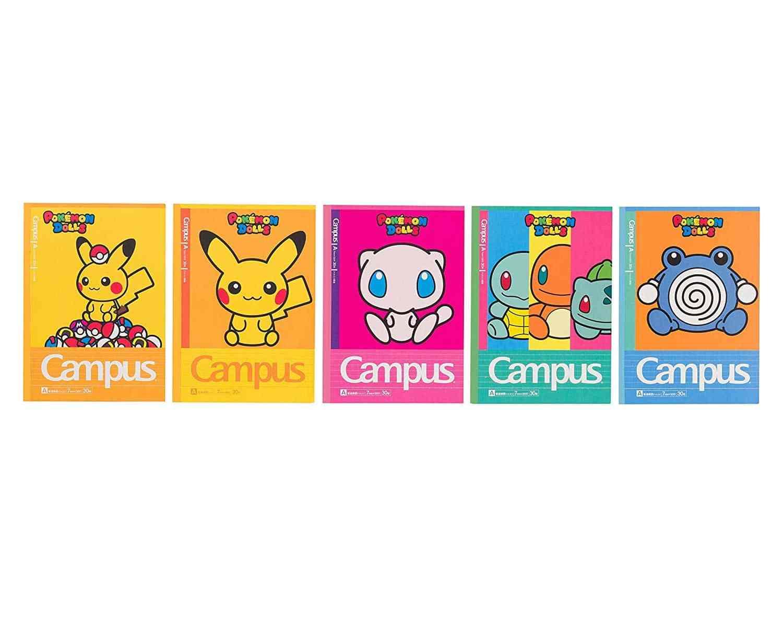 ポケモンセンターオリジナル キャンパスノートドット入りA罫5冊パック ポケモンドールズ