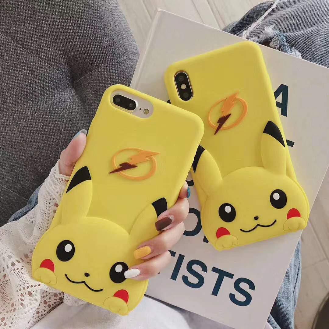 可愛シリコン製iphoneケース ピカチュウ ポケットモンスター (iPhone XR)