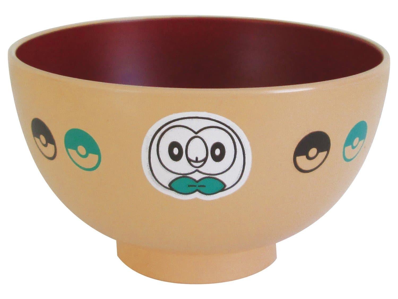 「 ポケットモンスター サン&ムーン 」 モクロー フェイス 塗 汁椀 M 子供用 食器 ベージュ 141567