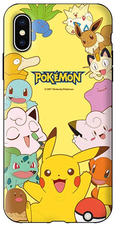 〈iPhone11・アイフォン11〉 人気 キャラクター パターン ダブル バンパー ケース Famous Charactors Pattern Double Bumper Case スマホ ダブル バンパー収納 ケース ソフト ハード 可愛い カバー 〔ポケモン・Pokemon〕