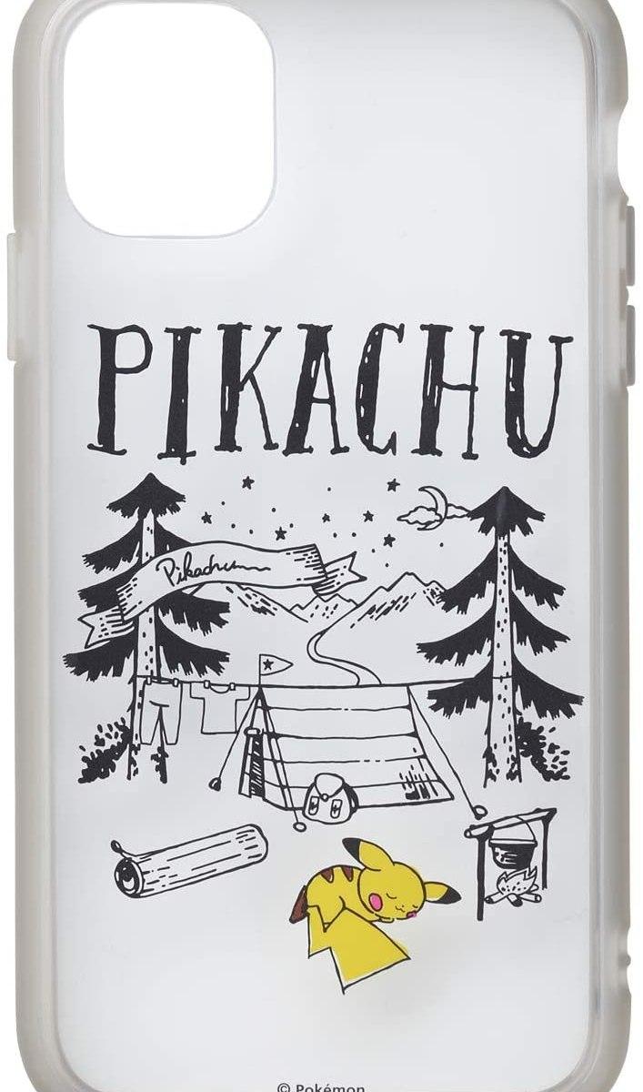 ポケモンセンターオリジナル IIIIfi+R(clear) for iPhone 11/XR Pikachu drawing