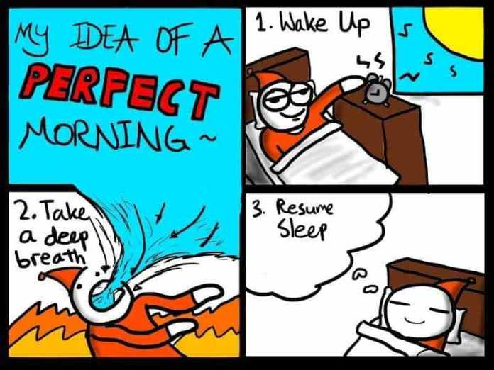 My idea of a perfect morning