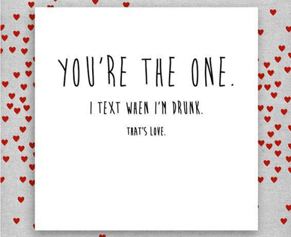 You're the one funny greeting card