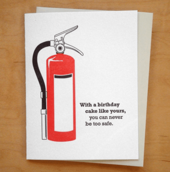With a birthday cake like yours funny greeting card