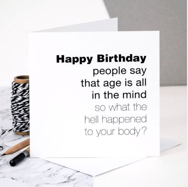 age is all in the mind funny greeting card