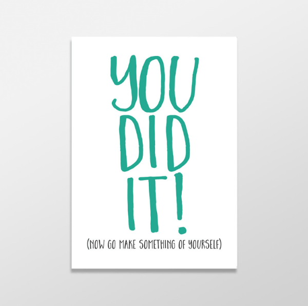 You did it funny greeting card