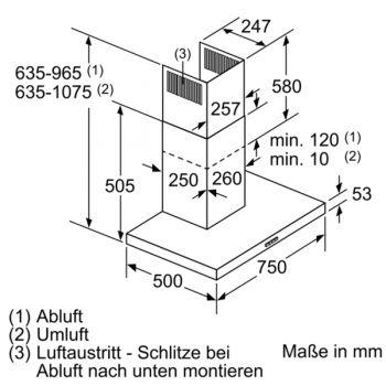Siemens LC77BHM50 Edelstahl  75 cm WandEsse  haiend