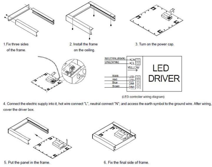 Led Ceiling Light Wiring Diagram