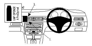 Brodit ProClip GPS, PDA und Handy Auto-Halterung für BMW