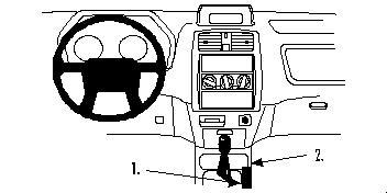 ProClip-Halterung für Mitsubishi Space Star 99-02