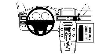 Brodit ProClip GPS, PDA und Handy Auto-Halterung für Volvo