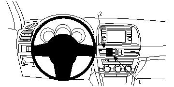 Brodit ProClip GPS, PDA und Handy Auto-Halterung für Mazda