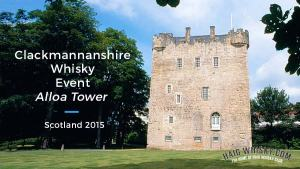Clackmannanshire Whisky Event Alloa Tower, Scotland 2015 - Haig Whisky