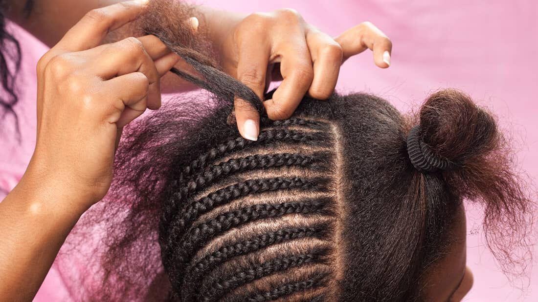 Natural Hair Cornrows Tutorial