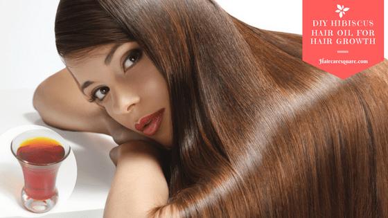 diy hibiscus hair oil for hair growth