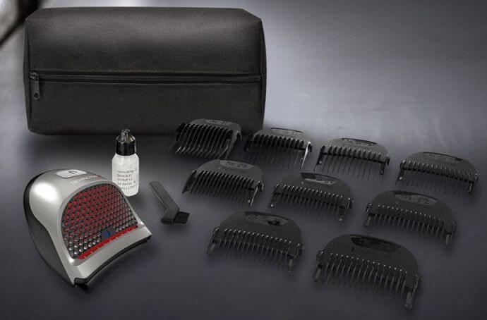 The Remington HC4250 cordless hair clipper comes with a full assortment of guards.
