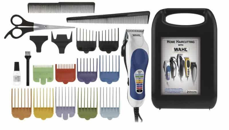 Here's what the Wahl Color Pro haircut kit includes.