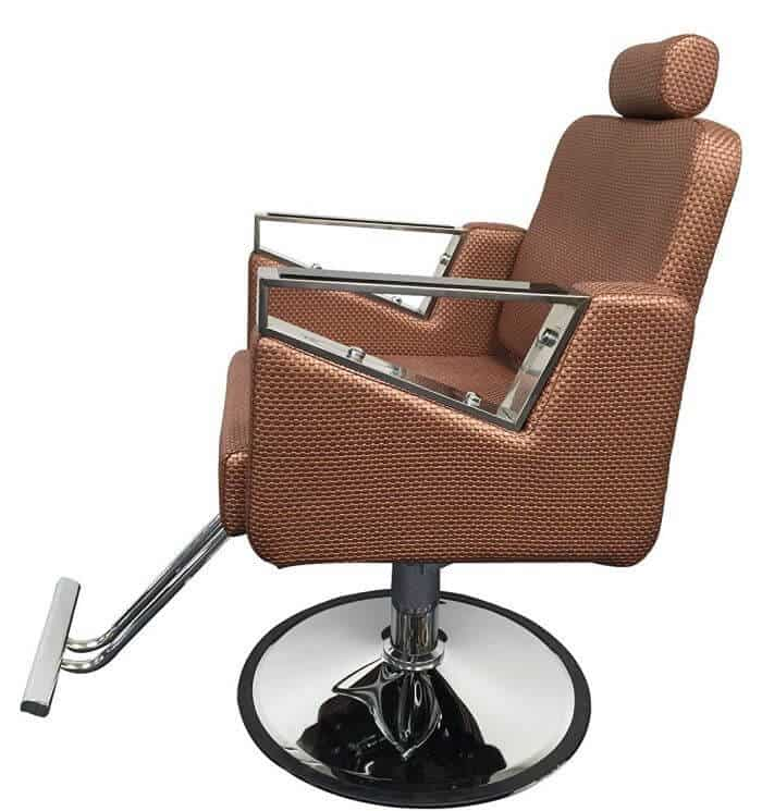 The best designed chair for barbers: D Salon's rose gold offer!