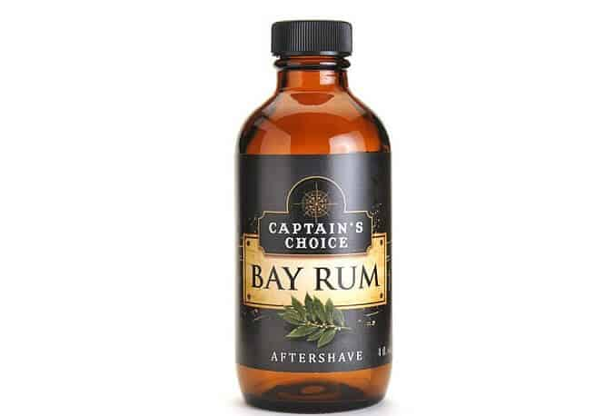 Captain's Choice bay rum splash is slightly spicy and still a great solution for your shaving needs.