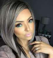 gray hair color ideas 2018-2019