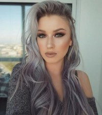 Gray hair color ideas 2018-2019 : Long Hair Tutorial ...