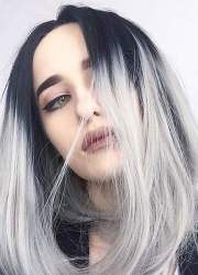 gray hair color ideas 2018-2019