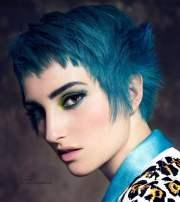 blue hairstyles 2018-2019 - hair