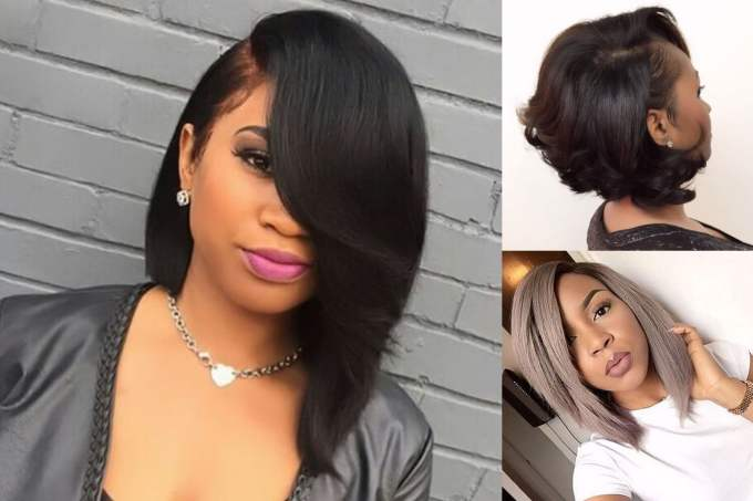 best 45 short bob hairstyle for black women & hair color ideas