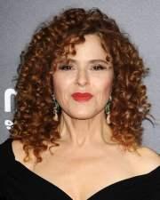 brown hair color curly medium