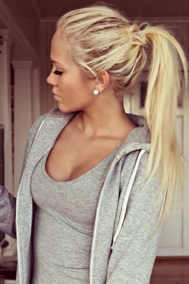 Long Hairstyles For Women With Messy Ponytail
