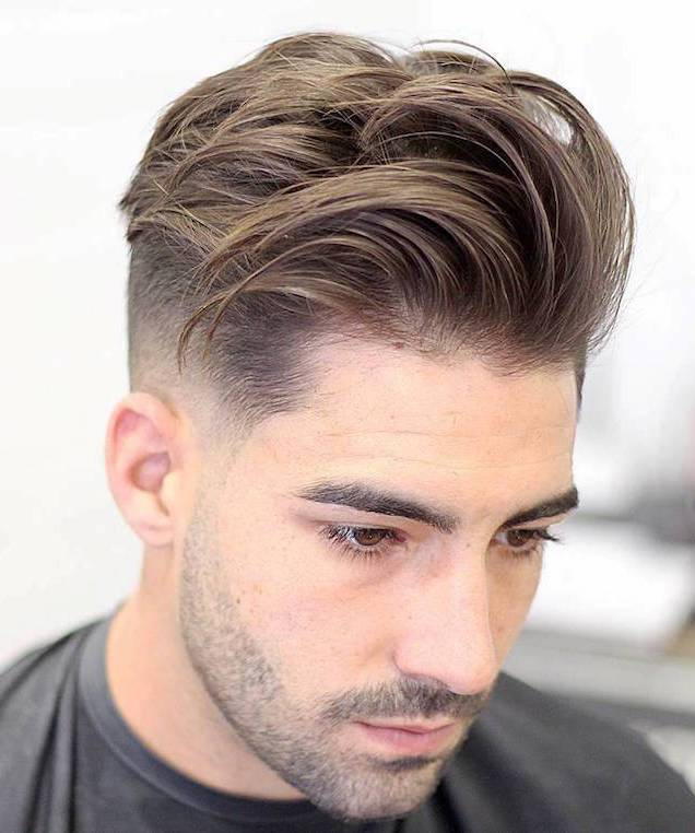 Mid Fade Longer Textured Hair