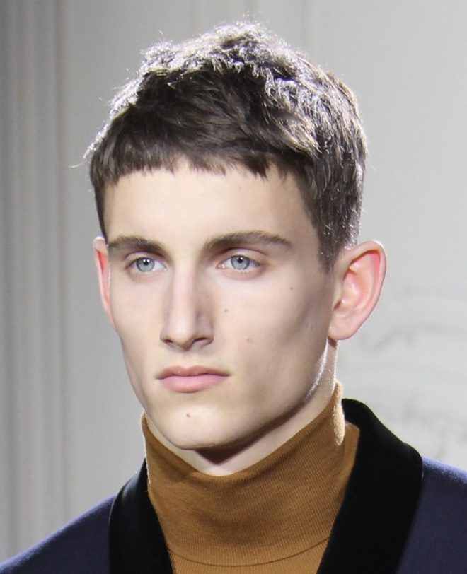 Short Straight Messy Hairstyle For Men