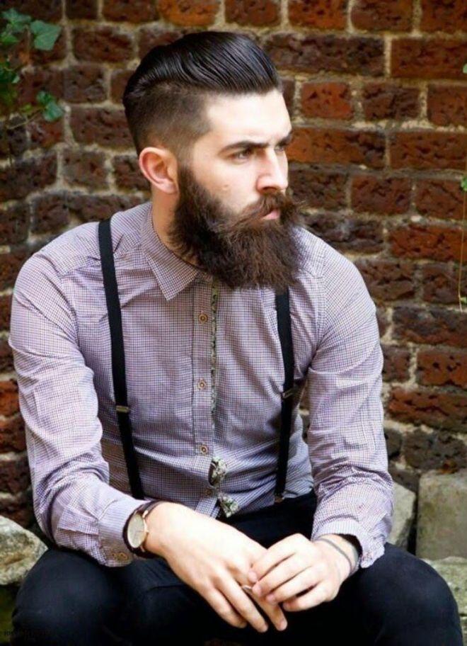 Pompadour Haircut With Full Beard