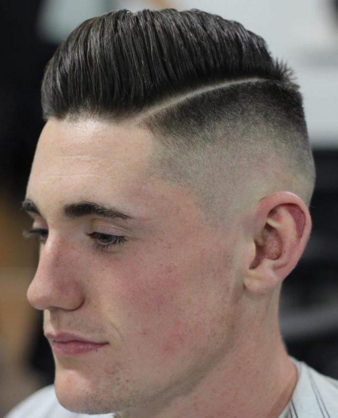 Skin Fade Undercut Pompadour Haircut