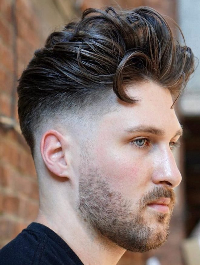Textured Pompadour Medium Hair