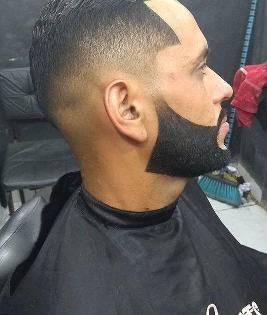 Sharp Taper Fade With Sharp Small Beard
