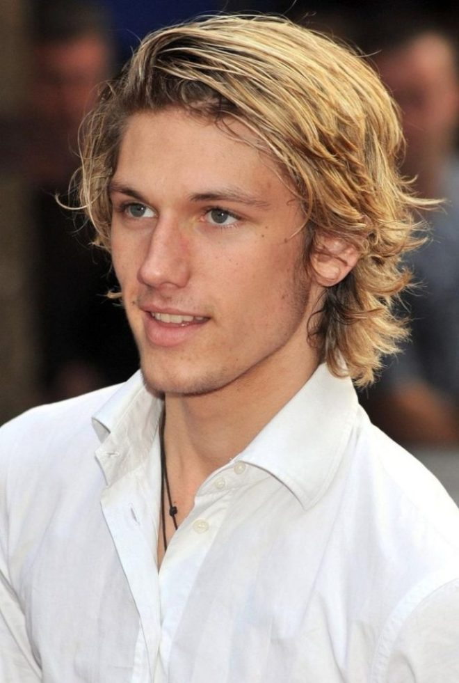 Curly Long Side Parting Haircut