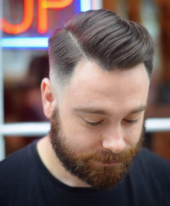 Pompadour Mens Hairstyle for Receding Hairline