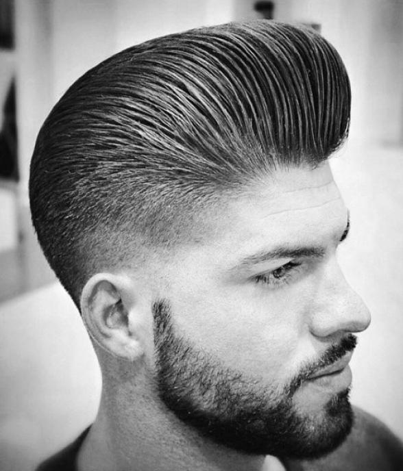 Taper Fade Pompadour Haircut