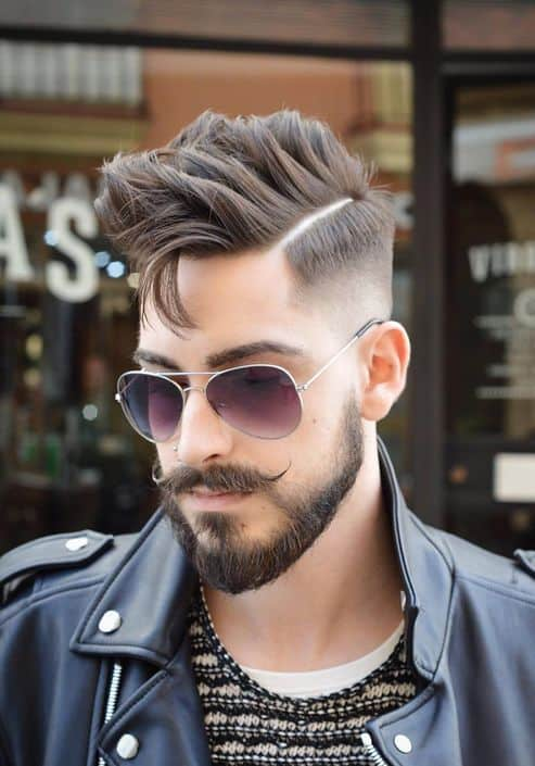 Textured Pompadour Hairstyle