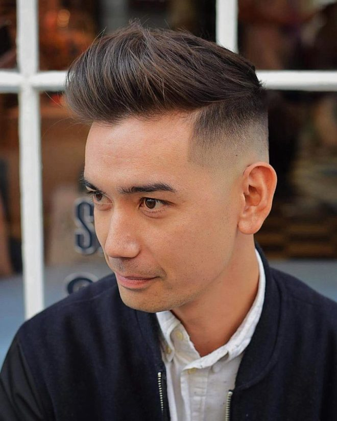 Skin Fade Mens Hairstyle For Receding Hairline
