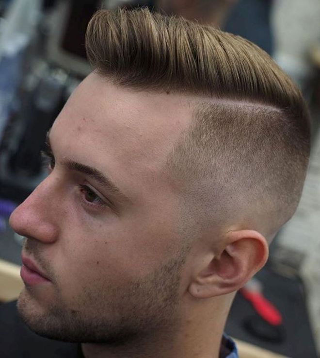 Skin Fade Side Parting Hairstyle