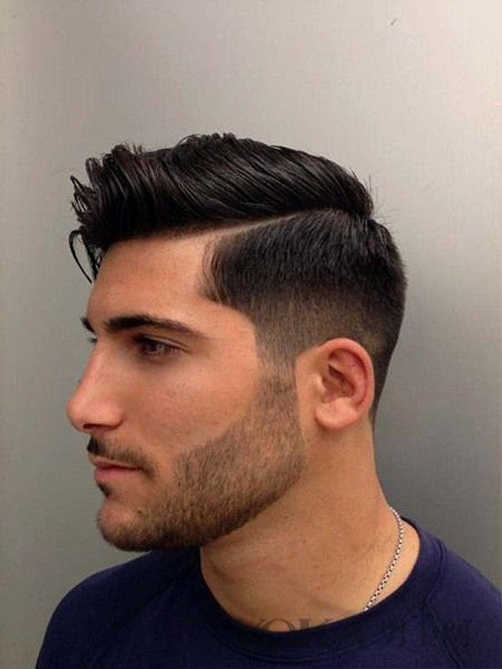 Fade Side Part Hairstyle