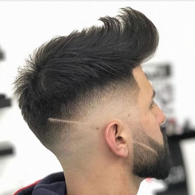 Sharp Fade Pompadour Haircut