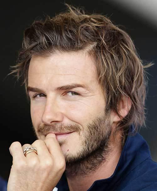 David Beckham with Messy Short Hairstyles