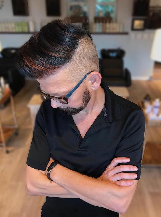 Copper Balayage on Dark Hair