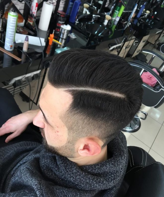 Razor Side Part Haircut
