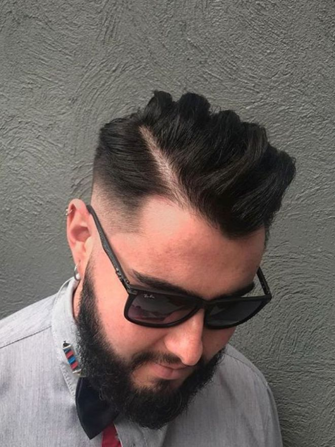 Hard Side Part Sharp Fade Hairstyle